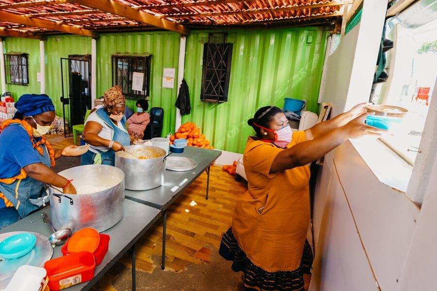 COVID19 community soup kitchen Kwadwesi