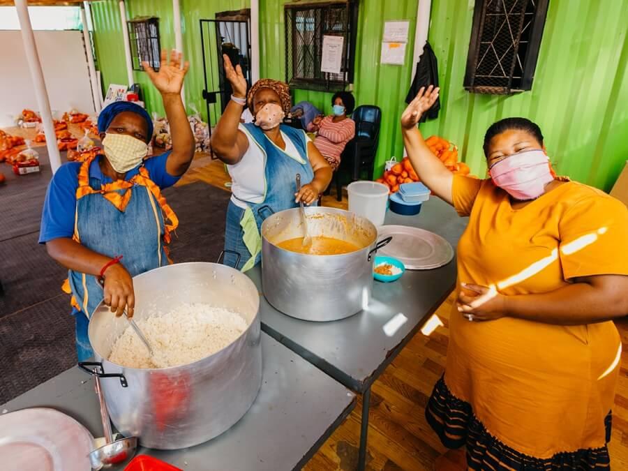 Community soup kitchen in Kwadwesi