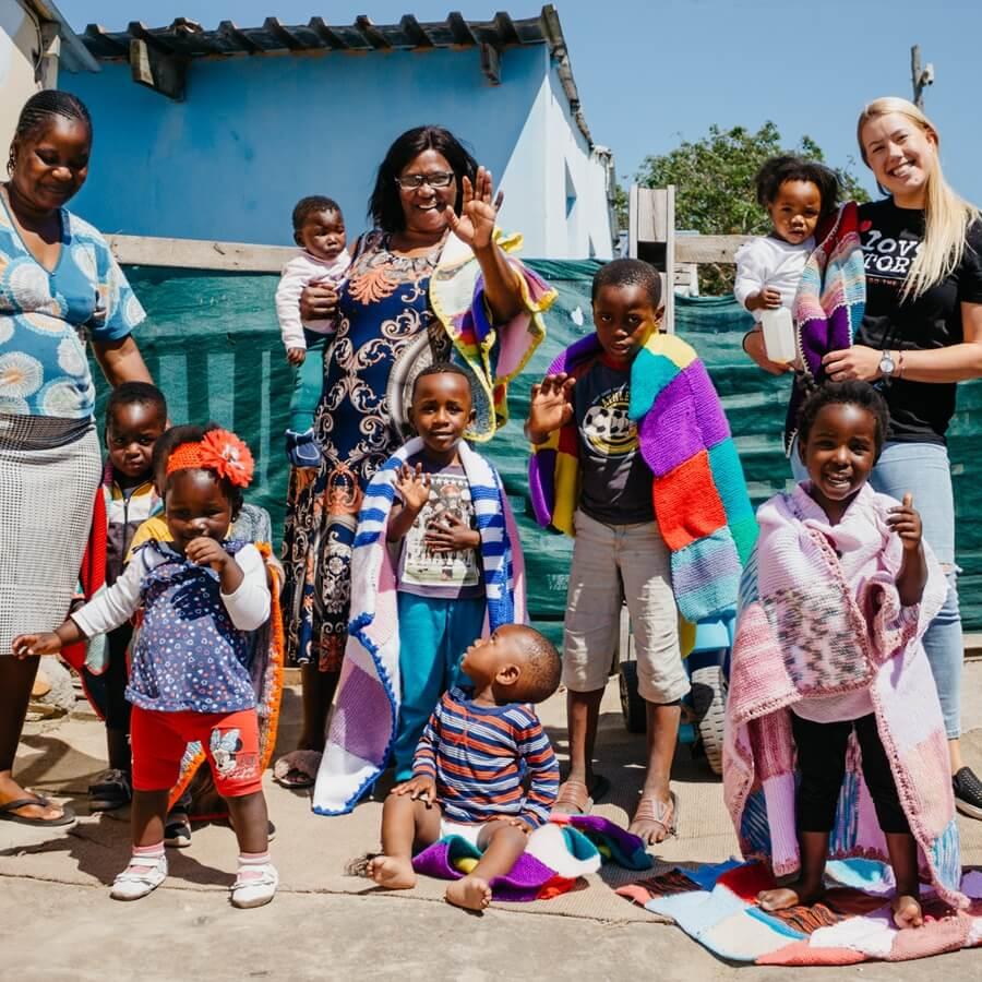 Volunteers at a Pre-School in Port Elizabeth Gqeberha